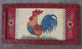 Chicken Wood Plaque 97703 Rooster