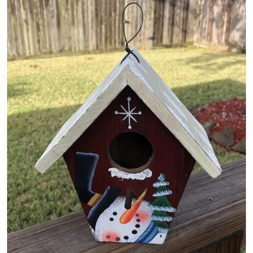 Holiday Splendor Christmas Decorative Wooden Birdhouse #N500