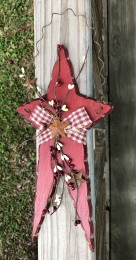 Primitive Wood White Star - 706-77173 Hanging Star