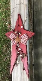 Primitive Wood White Star - 706-77173 Hanging Star