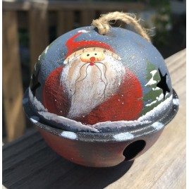 63066SRH - Santa Red Hat metal Bell Ornament