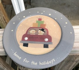 G33611HH  - Home for the Holidays wood plate