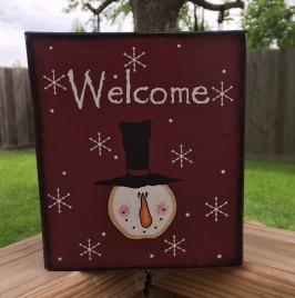 Kleenex Box Cover Paper Mache' - 77362 Welcome Snowman