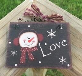 5780L  - Love Snowman Sign