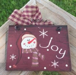5780J  -   Joy Snowman Sign