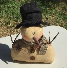 Mr. Timothy C10146 Stuffed Sitting Snowman