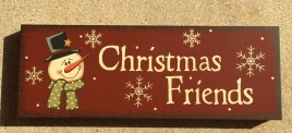 Christmas Decor Snowman 74729CFNB - Christmas Friends Wood Block