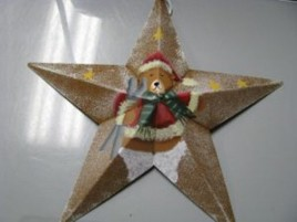 Christmas Ornament MS3 - Bear Metal Star