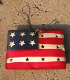 OR318- Flag Christmas Ornament Metal