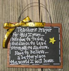 Teacher Gifts S197 Teacher Prayer Wood Slate