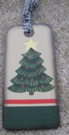 WD1465 - Christmas Tree Wood Tag