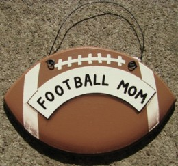 WD1900A - Football Mom wood sign