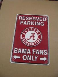 Alabama Roll Tide Metal  Parking Sign