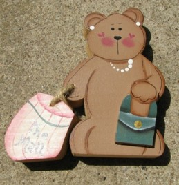 Bear Shopping - Green Purse