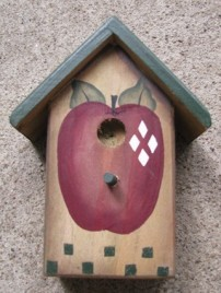 Primitive Wood BH4 - Apple Birdhouse Wood