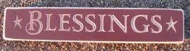 9Bless- Blessings Wood Engraved Block