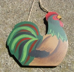 Wood Rooster Wd1606