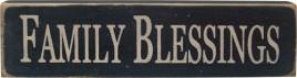 12531-Family Blessings wood block