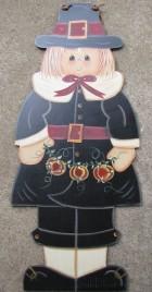 Fall Decor  FWF8304-Pilgrim Girl with Pumpkins