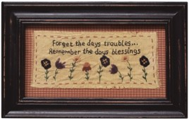 G1915 Forget the  Day's Troubles Sampler