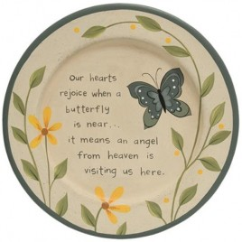 G34619 Loved One Butterfly Plate