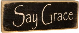 12563 - Say Grace Wood Primitive Block