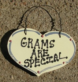 1034G - Grams Are Special  smalll wood Heart