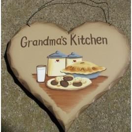HP14 - Grandma's Kitchen Wood Heart