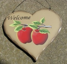 Welcome Apple Heart HP20 Wood