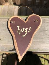 9003H- Hugs wood heart