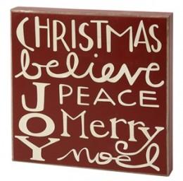 Primitive Wood Box Sign HW4486 Christmas Word Box