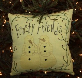 Christmas Decor kly7006 - Frosty Friends Pillow