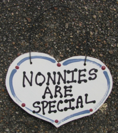 Nonnies Are Special  smalll wood Heart