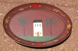 OPS5 Mini Oval Wood House Plate