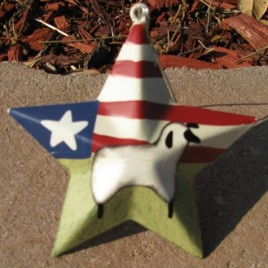OR222-Patriotic Sheep Star