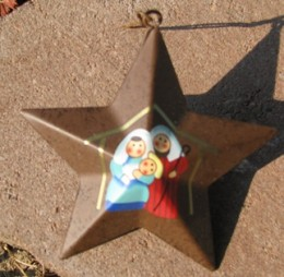 OR232 - metal star - manger scene