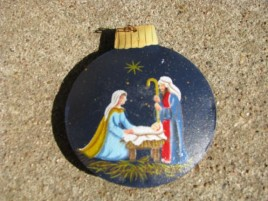 OR-515 Nativity Metal Ornament