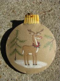 OR-517 Deer Metal Christmas Ornament