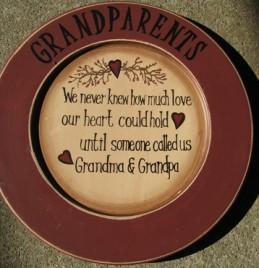 P11GP-11 Wood Grandparents Plate