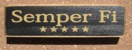 PBW942B - Semper Fi wood block