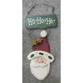 1234HONB - Ho HO HO Santa Wood Sign