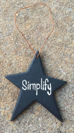 Christmas Ornament Black Simplify Star