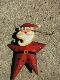 OR-350 Santa metal ornament