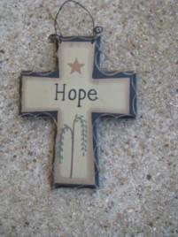 Primitive Mini Wood Cross WD802 - Hope Cross