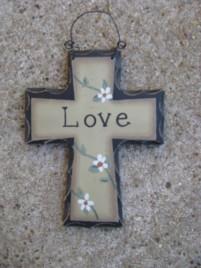 Primitive Wood Mini Cross WD804 - Love Cross