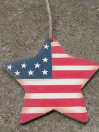 Patriotic Wood Star 1064 - Patriotic Star