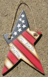 Patriotic Star 1122 - God Bless America