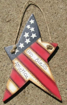 Patriotic Star 1122 - God Bless America