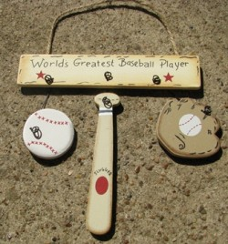 1200C  Worlds Greatest Baseball  Player wood sign