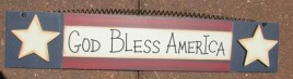 Patriotic Wood Sign 465 - God Bless America